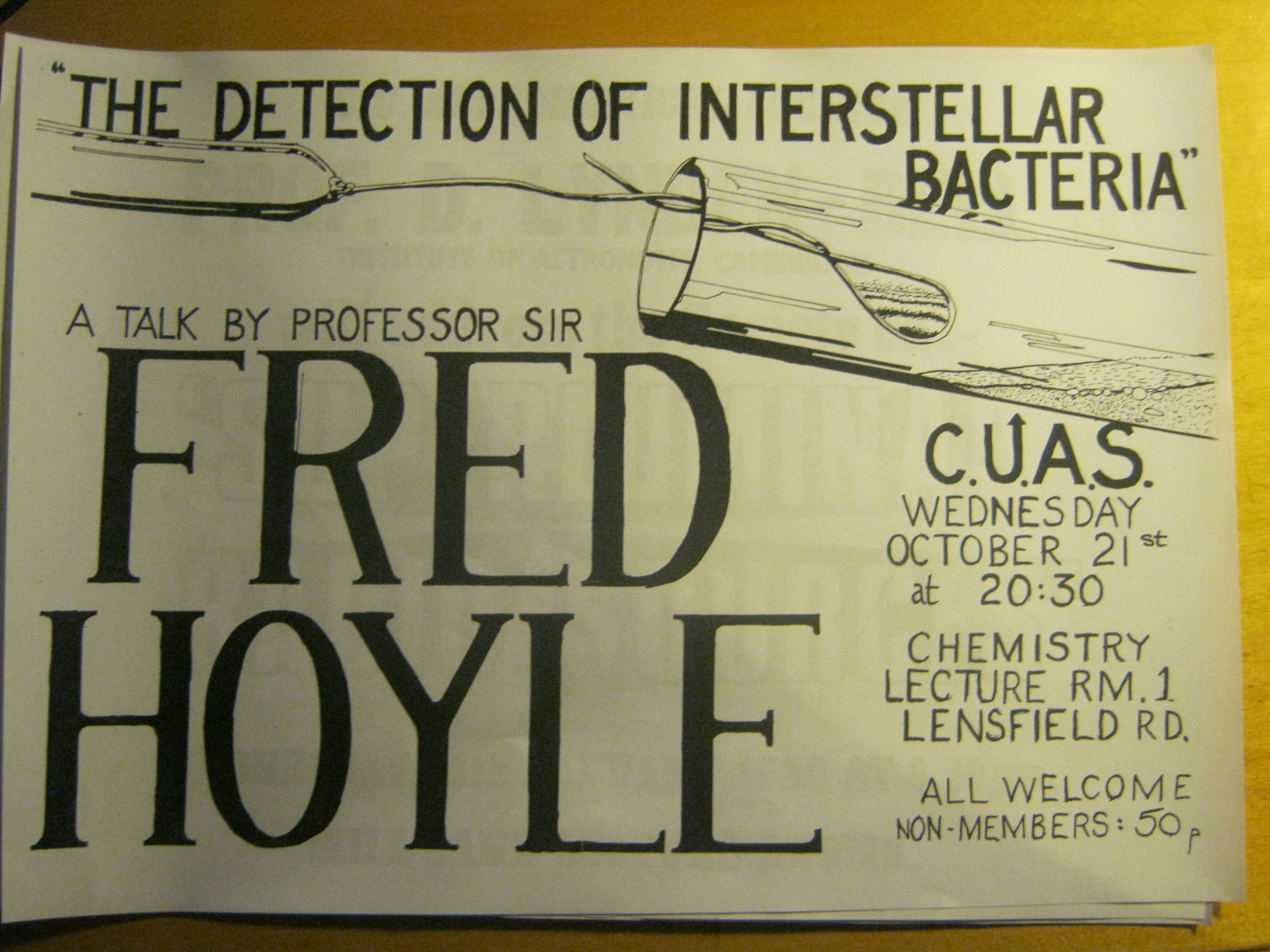 Poster for Fred Hoyle talk